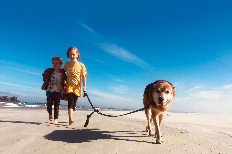 Lola & Leo at Smails Beach