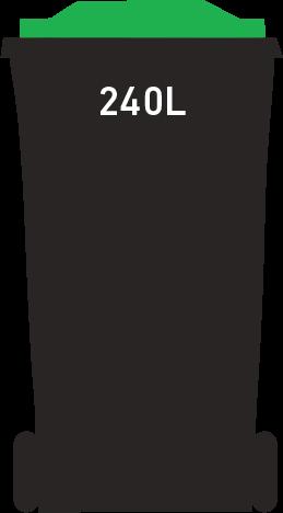 Green bin 240 litre
