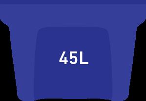 Blue bin 45 litre