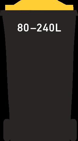 Yellow bin 8-240 litre
